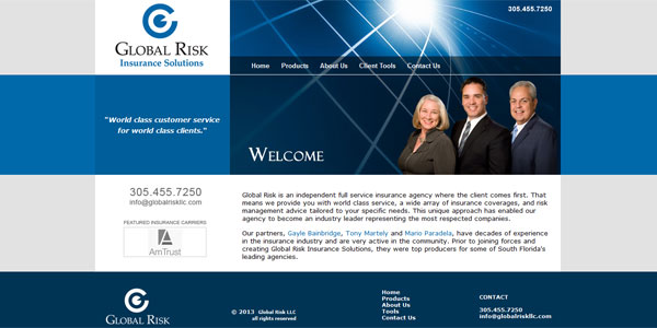 www.globalriskllc.com: Global Risk LLC, independent full service insurance agency